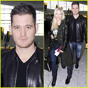 Michael Buble & Luisana Lopilato: London Departing Couple!
