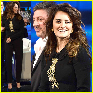 Penelope Cruz: 'Che Tempo Che Fa' Appearance!