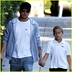 Ryan Phillippe Brings Deacon to Vote on Election Day!