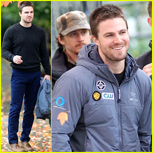 Stephen Amell: Shooting 'Arrow' Scenes!