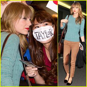 Taylor Swift Meets Fans at Narita Airport in Tokyo!