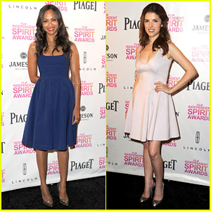 Zoe Saldana & Anna Kendrick Announce Spirit Awards Nominations 2013