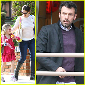 Ben Affleck Gets Lunch While Jennifer Garner Picks Up Violet!