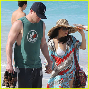 Channing Tatum & Jenna Dewan: St. Barts Beach Stroll!