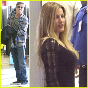 Dennis Quaid: LAX Departure with a Mystery Woman!