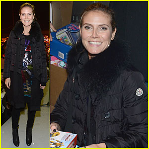 Heidi Klum: Christmas Tree Lighting Ceremony in New York!
