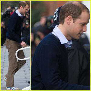 Prince William Visits Hospitalized & Pregnant Kate Middleton