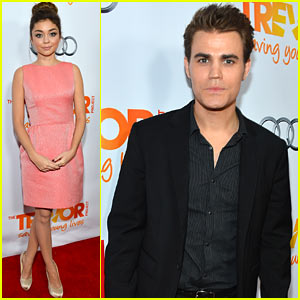 Sarah Hyland &#038; Paul Wesley - Trevor Live 2012