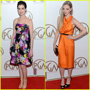 Anne Hathaway & Amanda Seyfried - Producers Guild Awards 2013