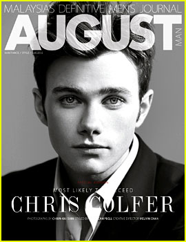 Chris Colfer Covers 'August Man' February 2013 (Exclusive)