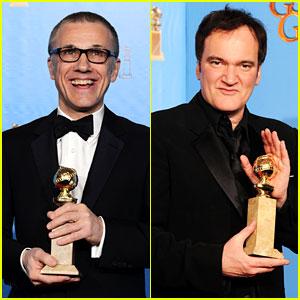 Christoph Waltz & Quentin Tarantino Win Golden Globes 2013