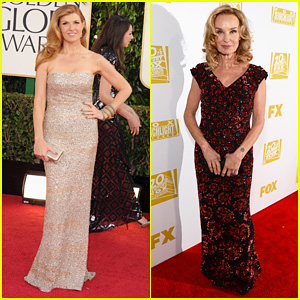 Connie Britton & Jessica Lange - Golden Globes 2013 Red Carpet