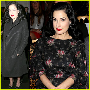 Dita Von Teese: Elie Saab & Yuliana Sergenko Shows in Paris!
