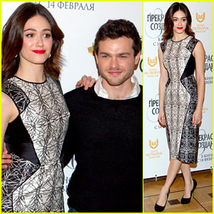 Emmy Rossum: 'Beautiful Creatures' Moscow Premiere with Alden Ehrenreich