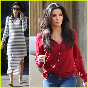 Eva Longoria: Red Hot Work Day in Santa Monica!