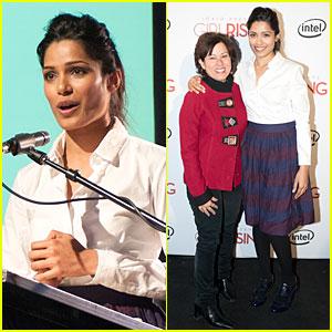 Freida Pinto: 'Girl Rising' Sundance Speaker!