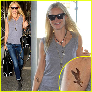 Gwyneth Paltrow: Arm Tattoo at LAX!