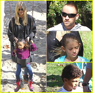 Heidi Klum &#038; Martin Kirsten: Swinging Saturday with the Kids!