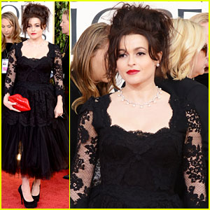 Helena Bonham Carter - Golden Globes 2013 Red Carpet