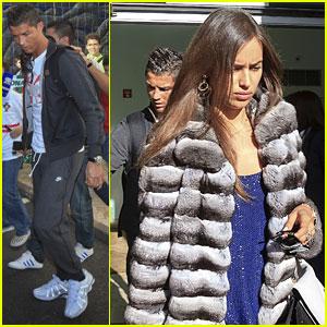 Irina Shayk & Cristiano Ronaldo: Madeira Airport Arrival!