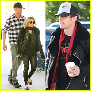 James Franco, Fergie, & Josh Duhamel: LACMA Visitors!