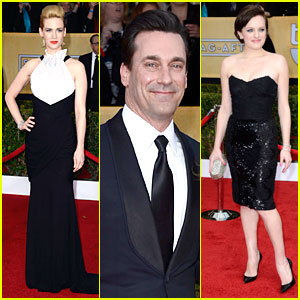 January Jones & Jon Hamm - SAG Awards 2013 Red Carpet