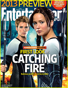 Jennifer Lawrence &#038; Sam Claflin: Finnick Revealed on 'EW' Cover!