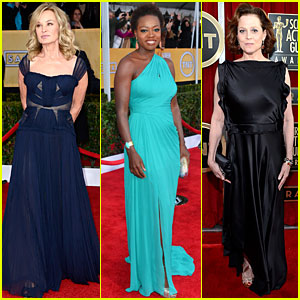 Jessica Lange &amp; Viola Davis - SAG Awards 2013 Red Carpet