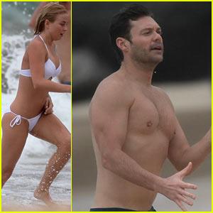 Julianne Hough: Bikini Swimming with Shirtless Ryan Seacrest!