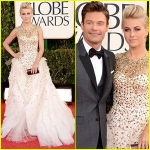 Julianne Hough & Ryan Seacrest - Golden Globes 2013 Red Carpet