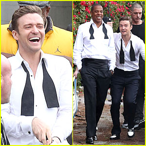 Justin Timberlake: 'Suit &#038; Tie' Music Video Shoot with Jay-Z!