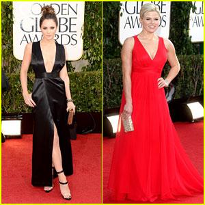 Katharine McPhee & Megan Hilty - Golden Globes 2013