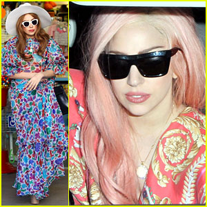 Lady Gaga: Colorful Kitson Kids Shopper!