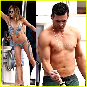 LeAnn Rimes & Eddie Cibrian: New Year's Eve Swimming!