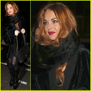 Lindsay Lohan: Mandarin Hotel Dinner!
