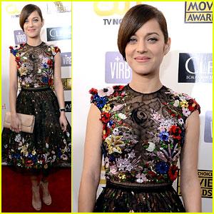 Marion Cotillard Critics Choice Awards 2013 Red Carpet