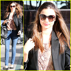 Miranda Kerr Gets Pampered, Orlando Bloom Goes for a Ride