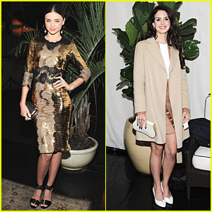 Miranda Kerr &#038; Lana Del Rey: 'W' Magazine's Pre-Golden Globes Party!