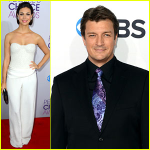Morena Baccarin & Nathan Fillion - People's Choice Awards 2013