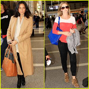 Olivia Munn & Emily Blunt: LAX Ladies!