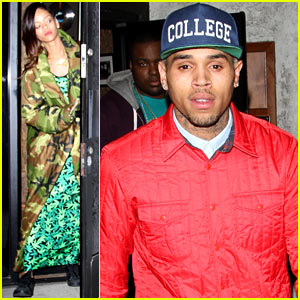 Rihanna & Chris Brown: Separate Studio Exits!