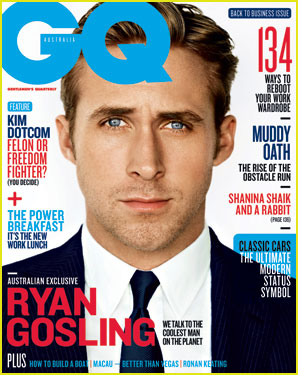Ryan Gosling Suits 'GQ Australia' Magazine February 2013