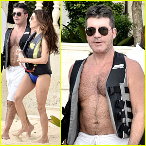 Simon Cowell: Shirtless New Year's Eve with Mezhgan Huissany!
