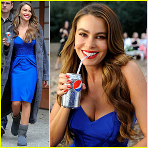 Sofia Vergara: Diet Pepsi Commercial Shoot!