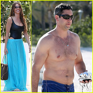 Sofia Vergara: Miami Beach with Shirtless Nick Loeb!