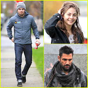 Stephen Amell &#038; Willa Holland: 'Arrow' Set Return!