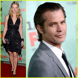 Timothy Olyphant & Joelle Carter: 'Justified' Season 4 Premiere!