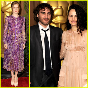 Amy Adams & Joaquin Phoenix - Oscar Noms Luncheon 2013