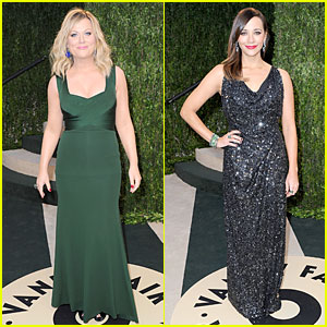 Amy Poehler & Rashida Jones - Vanity Fair Oscars Party 2013
