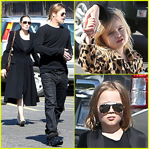 Angelina Jolie &#038; Brad Pitt: Valentine's Day with the Twins!